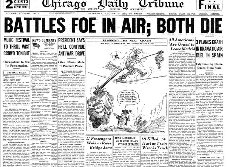 Chicago Daily Tribune August 15, 1936