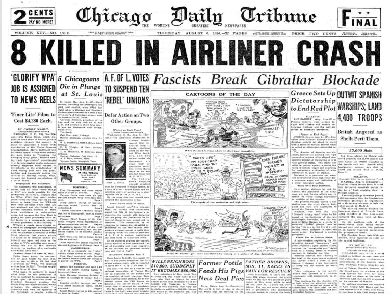 Chicago Daily Tribune August 6, 1936