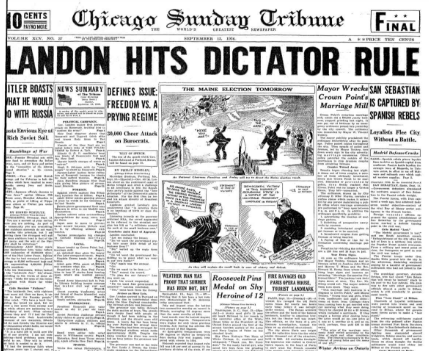 Chicago Sunday Tribune Sept 13, 1936