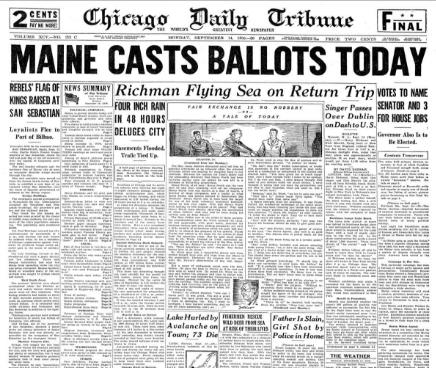 Chicago Daily Tribune Sept. 14, 1936