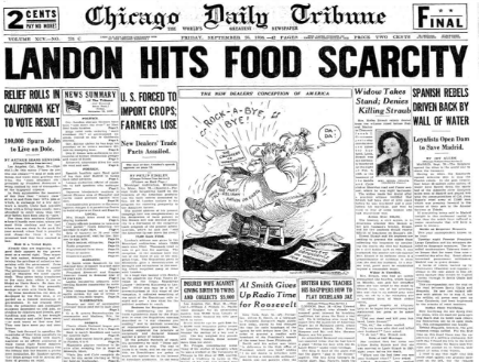 Chicago Daily Tribune September 25, 1936