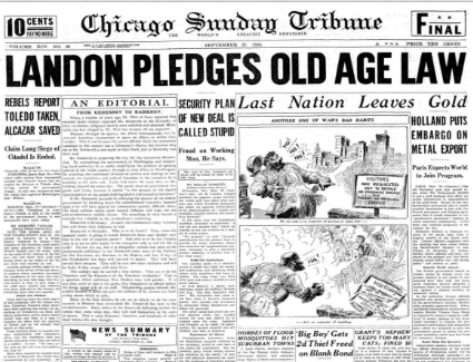 Chicago Sunday Tribune September 27, 1936