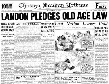 Chicago Sunday Tribune September 27, 1936