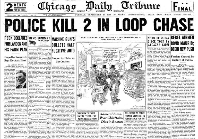Chicago Daily Tribune Sept 29, 1936
