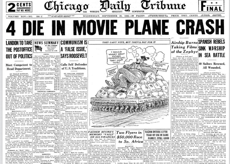 Chicago Daily Tribune Sept 30, 1936