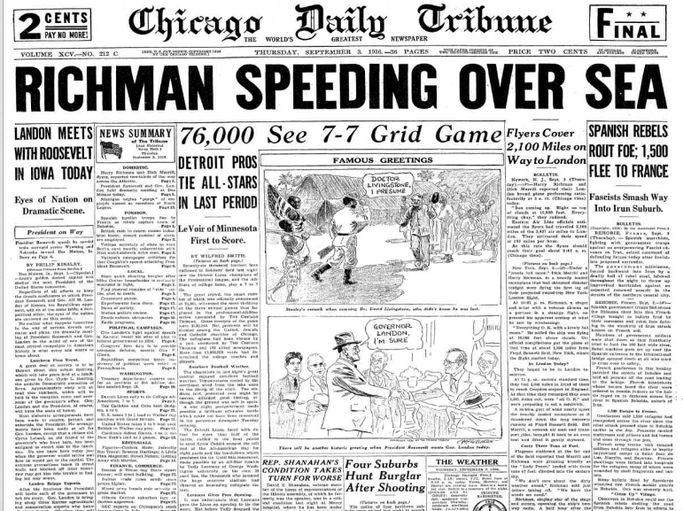 Chicago Daily Tribune Sept, 4, 1936