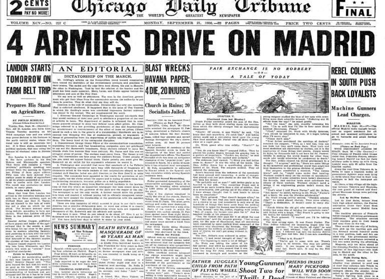 Chicago Daily Tribune Sept 21, 1936