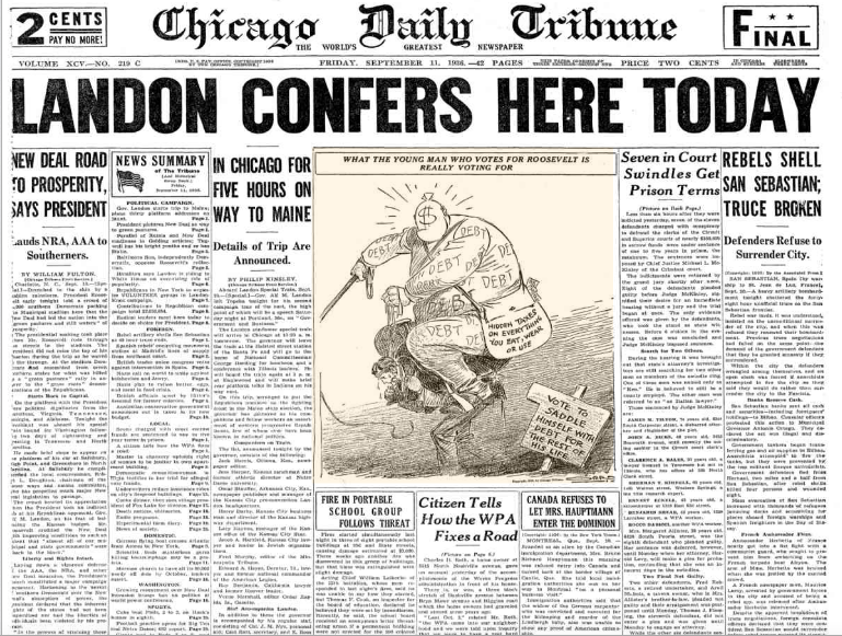 Chicago Daily Tribune Sept 11, 1936