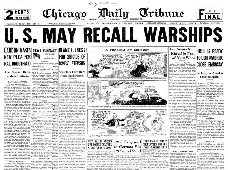 Chicago Daily Tribune Sept 1, 1936