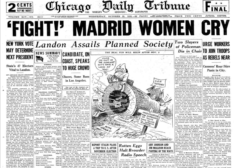 Chicago Daily Tribune October 21, 1936