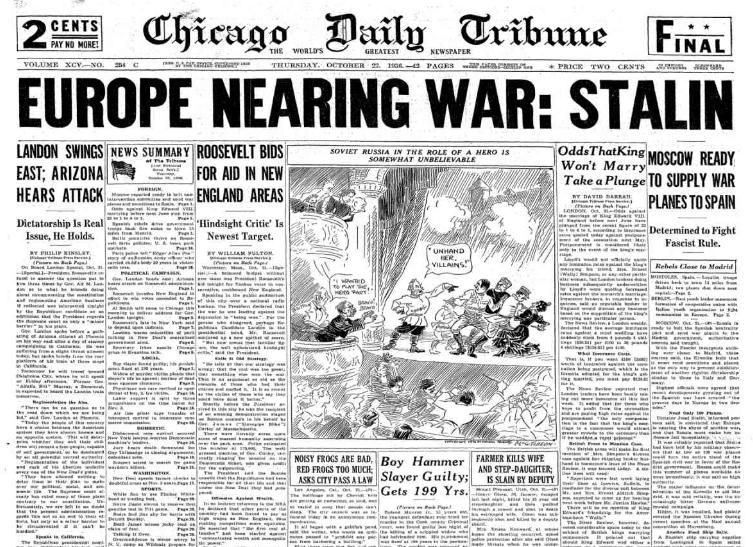 Chicago Daily Tribune October 22, 1936