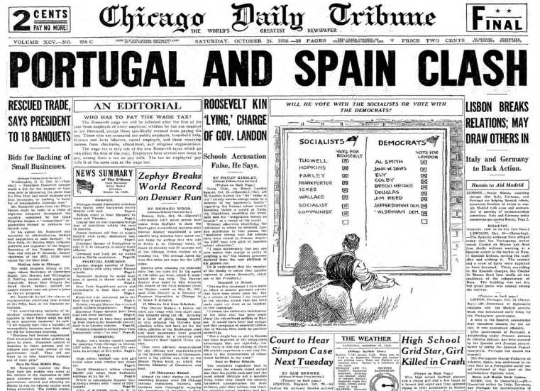 Chicago Daily Tribune October 24, 1936