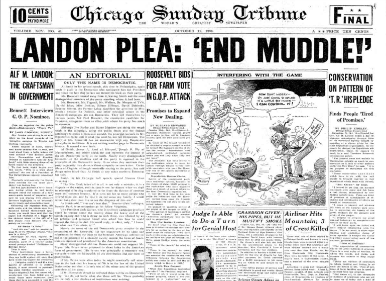 Chicago Sunday Tribune October 11, 1936
