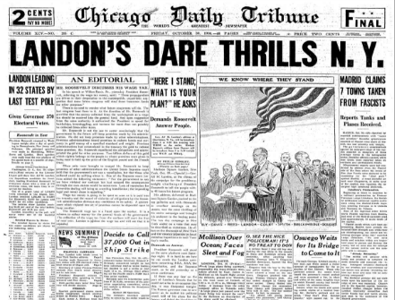 Chicago Daily Tribune October 30, 1936