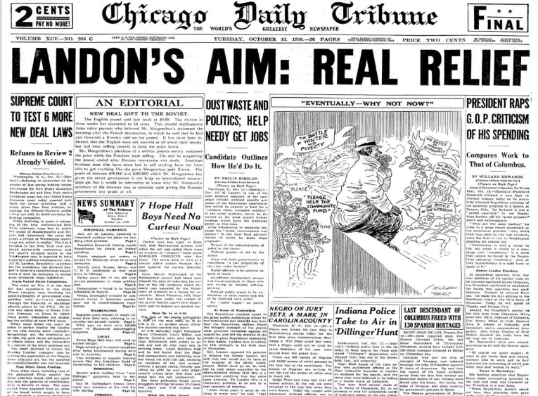 Chicago Daily Tribune October 13, 1936