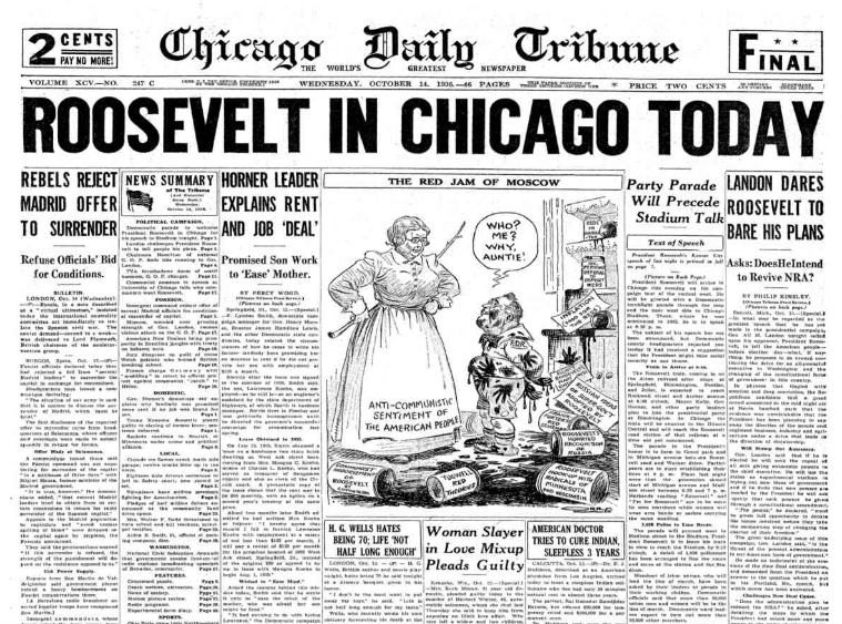 Chicago Daily Tribune October 14, 1936