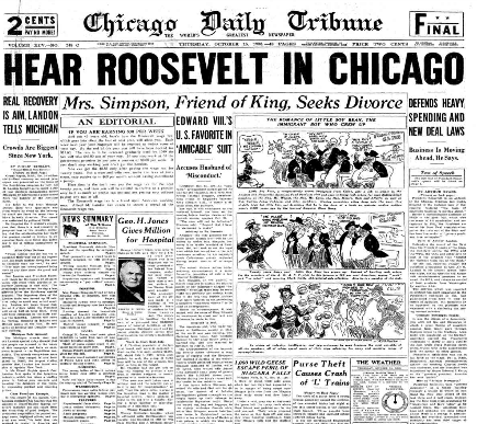 Chicago Daily Tribune October 15, 1936