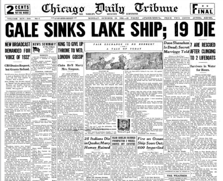 Chicago Daily Tribune October 19, 1936
