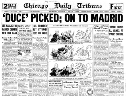 Chicago Daily Tribune October 1, 1936