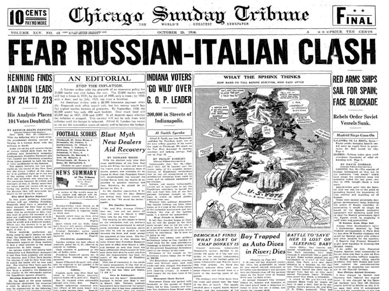 Chicago Daily Tribune October 25, 1936
