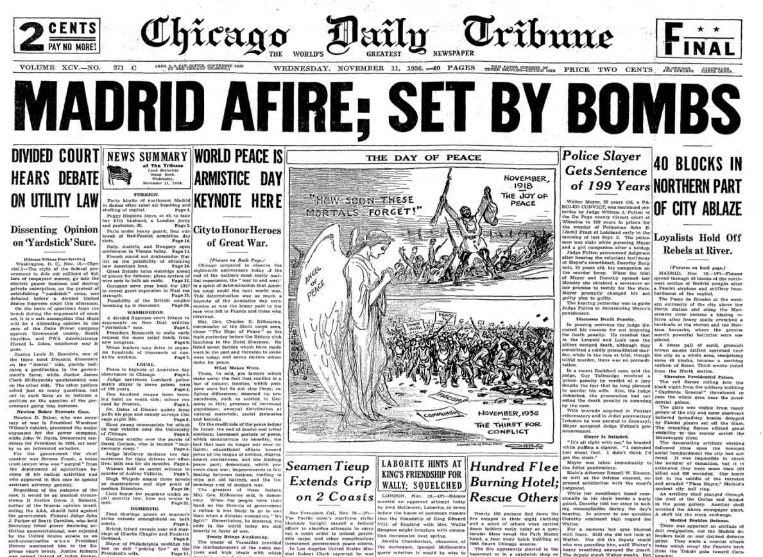 Chicago Daily Tribune November 11, 1936