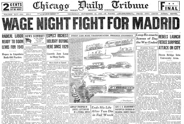 Chicago Daily Tribune November 12, 1936