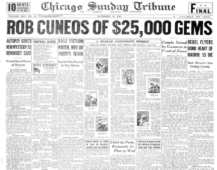 Chicago Sunday Tribune November 15, 1936