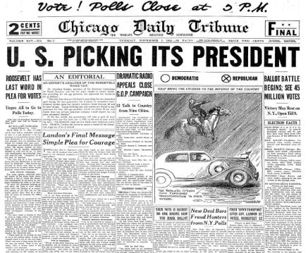 Chicago Daily Tribune November 3, 1936