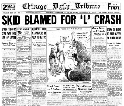 Chicago Daily Tribune November 28, 1936