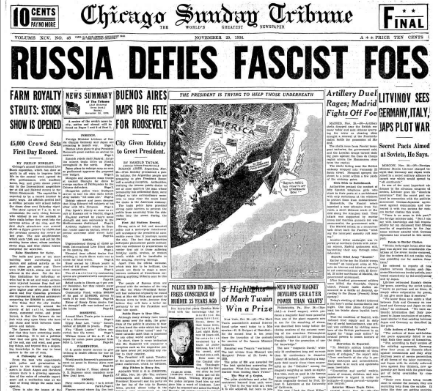 Chicago Sunday Tribune November 29, 1936