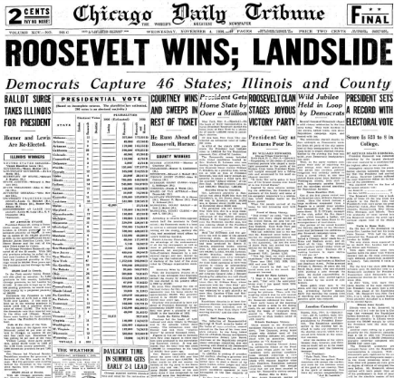 Chicago Daily Tribune November 4, 1936