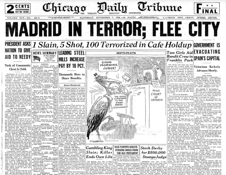 Chicago Daily Tribune November 7, 1936