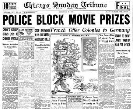 Chicago Sunday  Tribune December 27, 1936