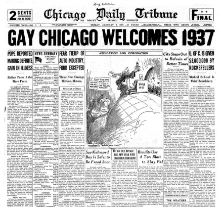 Chicago Daily Tribune January 1, 1937