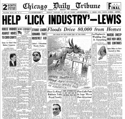 Chicago Daily Tribune January 22, 1937