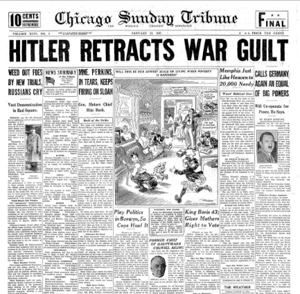 Chicago Sunday Tribune  January 31, 1937