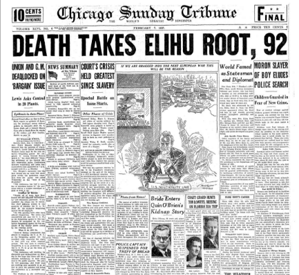 Chicago Sunday  Tribune February 7, 1937