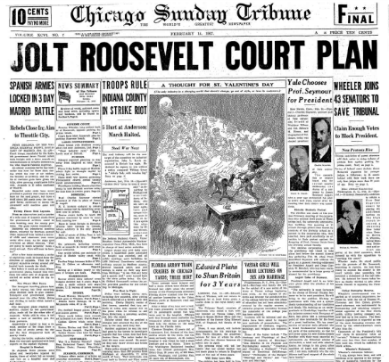 Chicago Daily Tribune February 14, 1937