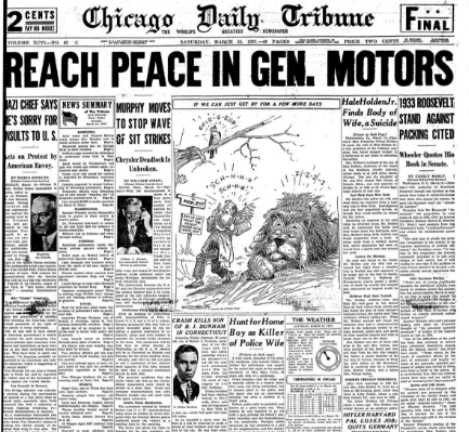 Chicago Daily Tribune March 13, 1937