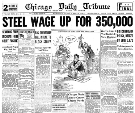 Chicago Daily Tribune March 3, 1937