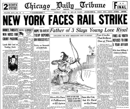 Chicago Daily Tribune April 26, 1937