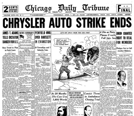 Chicago Daily Tribune April 7, 1937