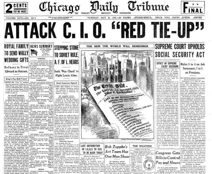 Chicago Daily Tribune May 25, 1937