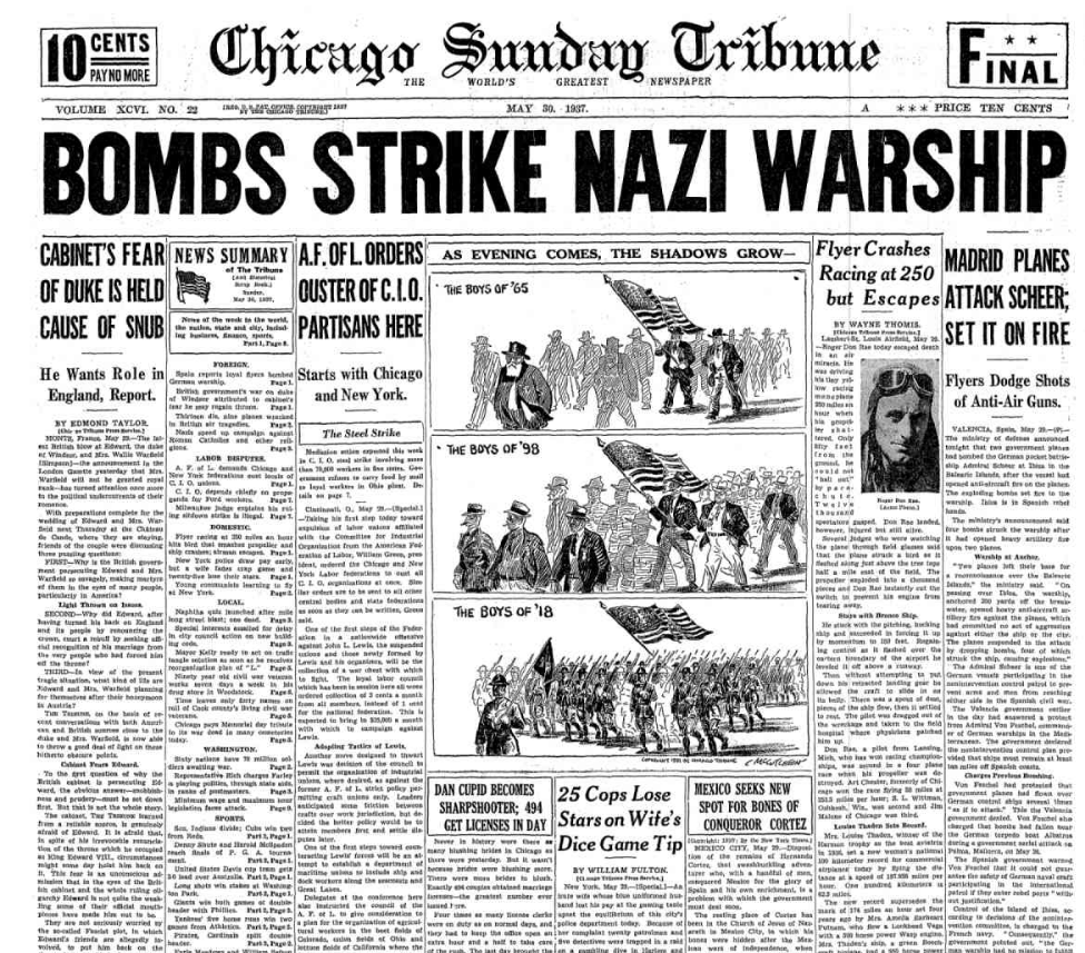 Chicago Sunday Tribune May 30. 1937