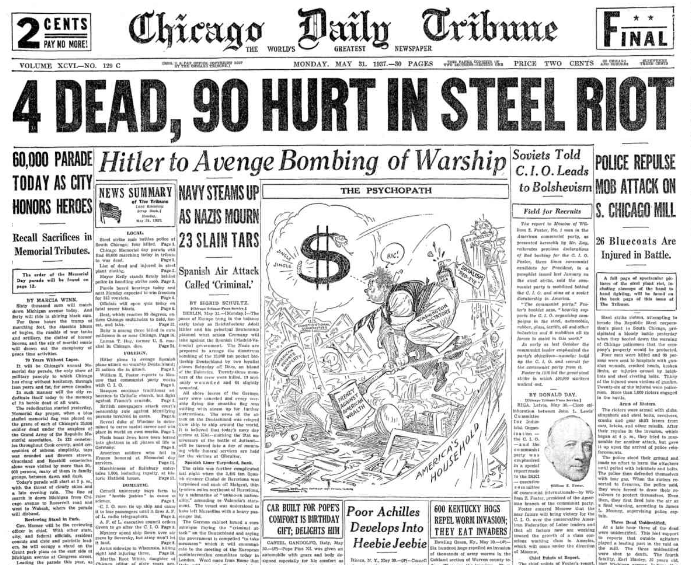 Chicago Daily Tribune May 31, 1937