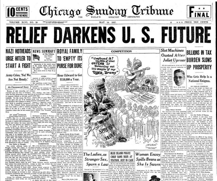 Chicago Sunday Tribune May 16, 1937