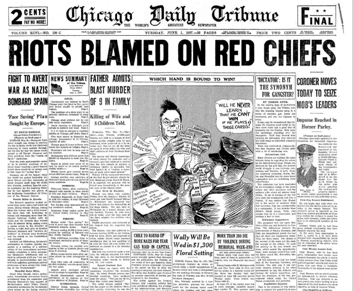 Chicago Daily Tribune June 1, 1937