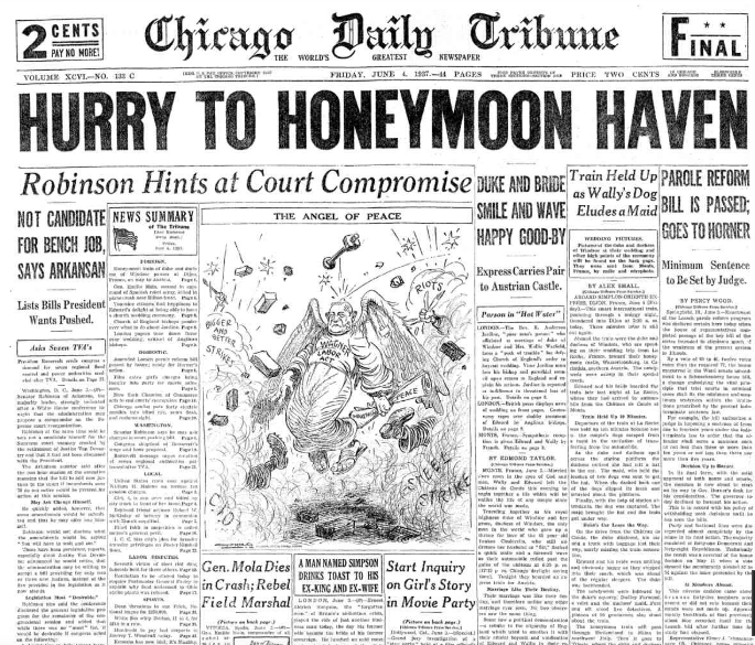 Chicago Daily Tribune June 4, 1937
