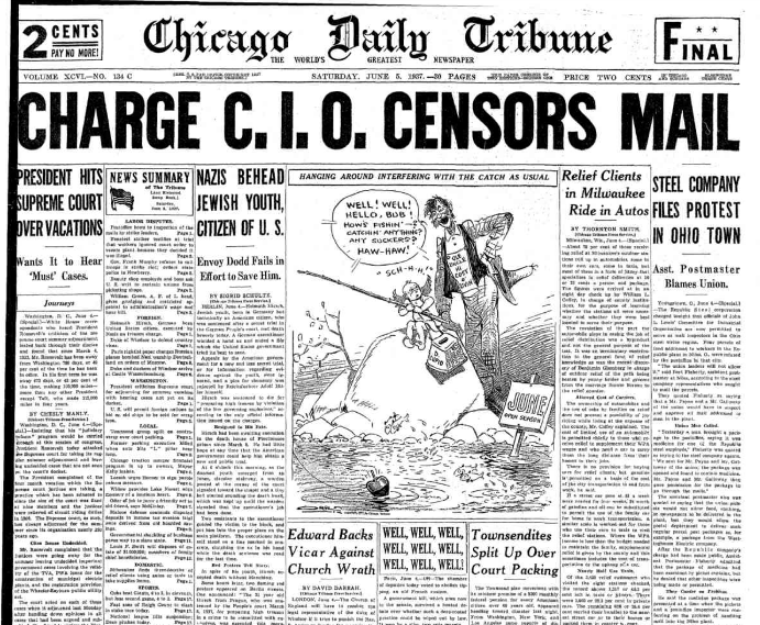 Chicago Daily  Tribune June 5, 1937