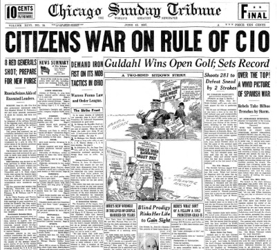 Chicago Sunday Tribune June 13, 1937